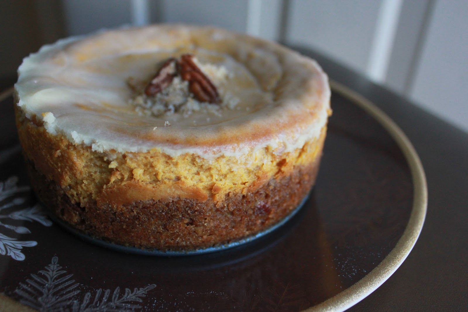 Squirrels-n-Sweets: Bourbon Pumpkin Cheesecake