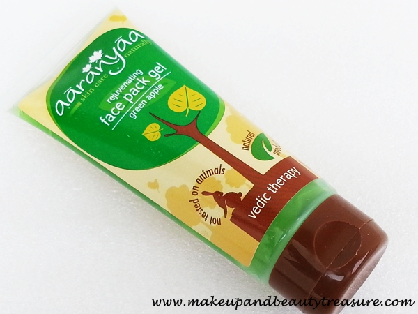 Aaranyaa Rejuvenating Face Pack Gel 'Green Apple' Review