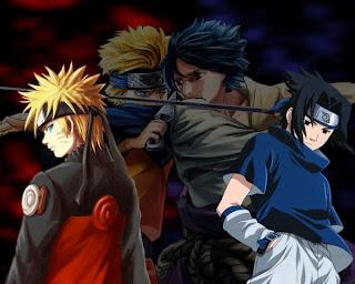 Wallpaper keren Naruto vs Sasuke