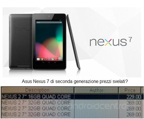 Svelati i prezzi di listino iniziali dei nuovi Nexus 7 di seconda genrazione, con display fullhd?