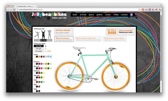 Site permite personalizar bicicleta online