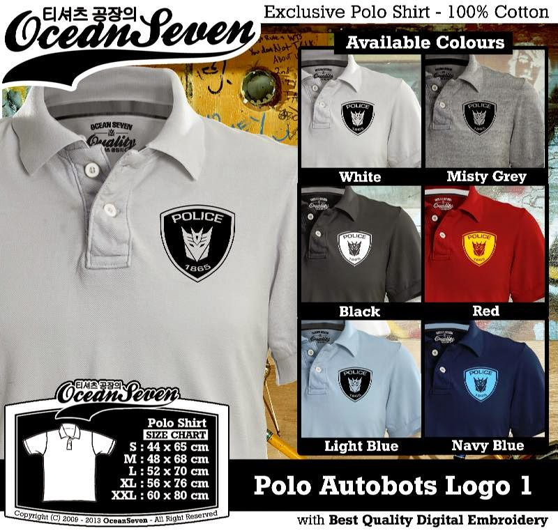 Kaos Polo Autobots Logo 1