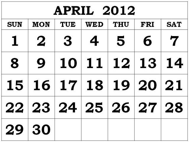 18 Week Calendar   Calendar Template 2016