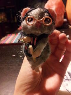 Ooak mouse befana epiphany witch prosculpt tibetan lamb