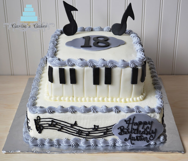 Carisa's Cakes: Two Tiered Piano Cake