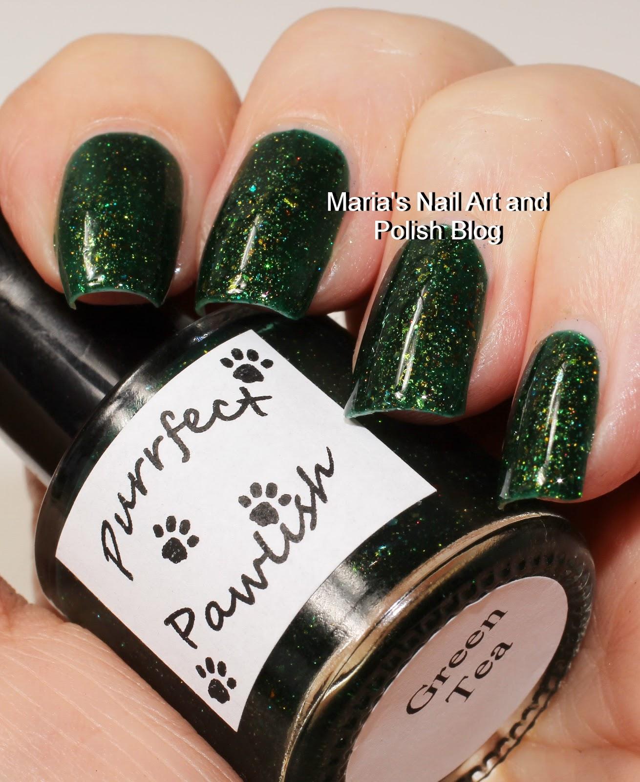 Marias Nail Art and Polish Blog: Purrfect Pawlish Green Tea, Classic ...