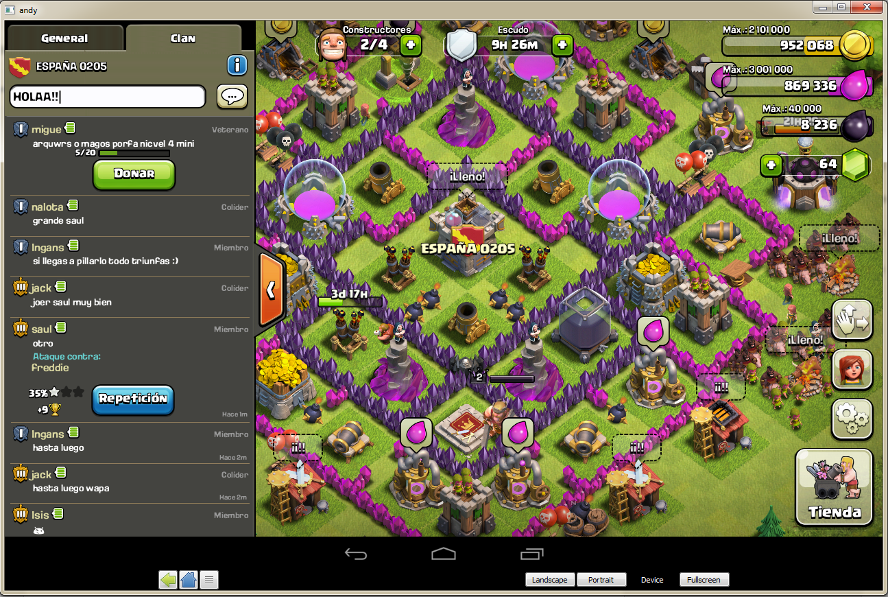 EMULADOR PARA JUGAR A CLASH OF CLANS EN PC.