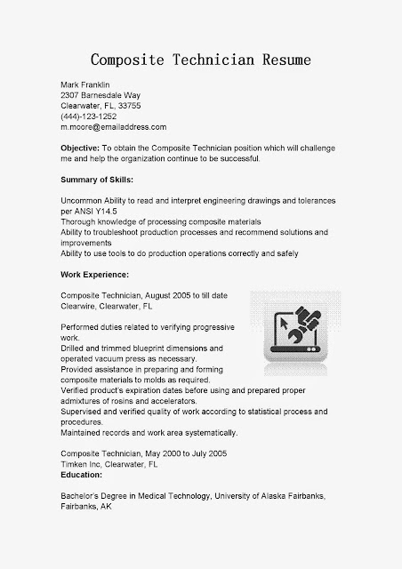 assembly technician resume job description - Vatoz.atozdevelopment.co