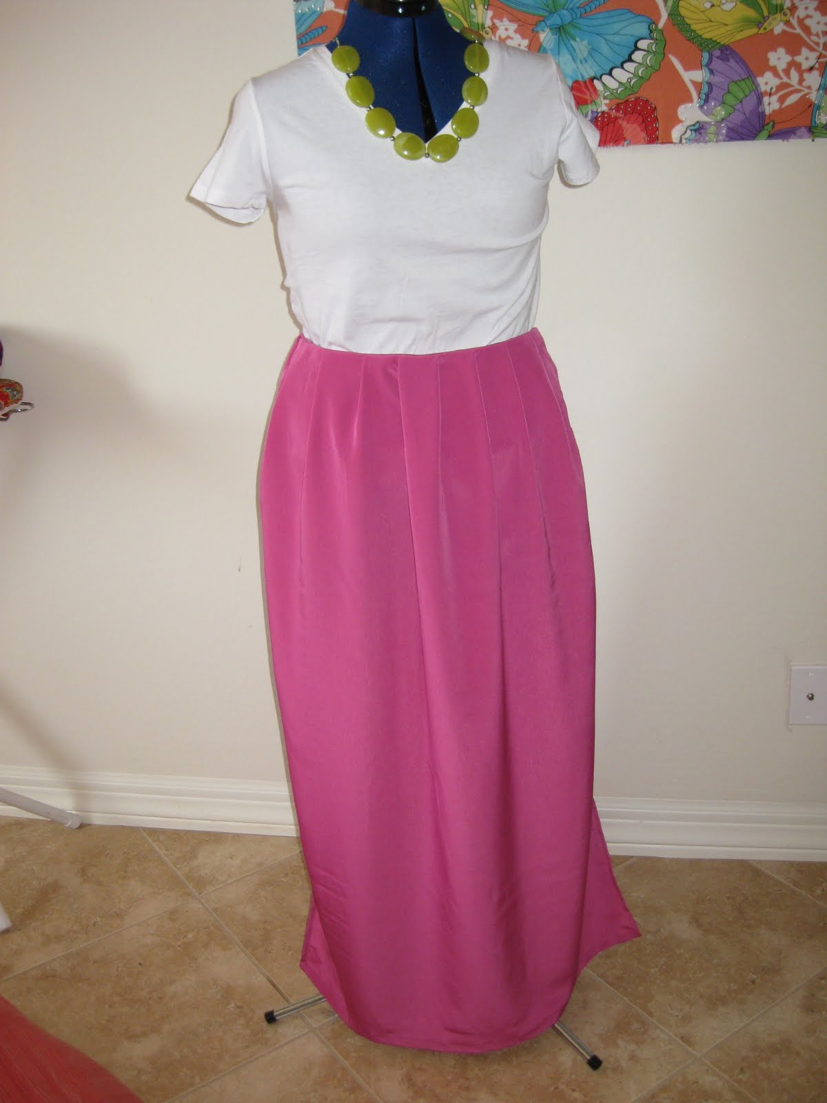 one hour a day diy jil sander inspired maxi skirt and