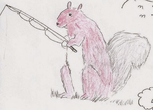 Squirrel illustrations by Enoch