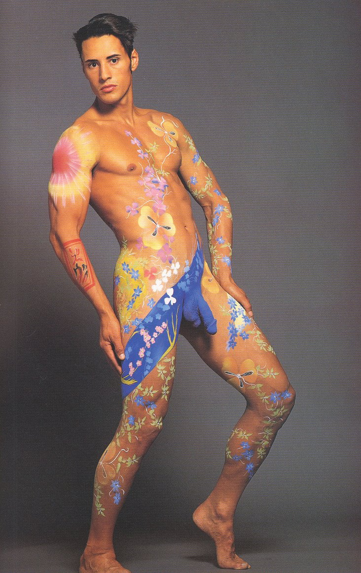 from Langston naked body paint boy