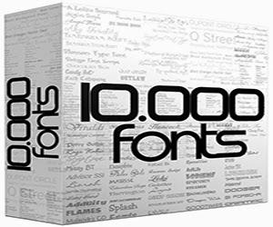 koleksi 10000 font