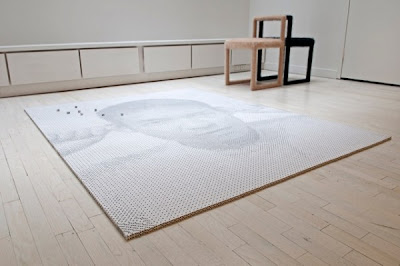 A Portrait of Tobias Wong Using 13,138 Dice Seen On www.coolpicturegallery.us