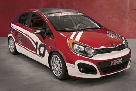 Picture Kia Rio B Spec Race Car Red   Cars Online Modifications