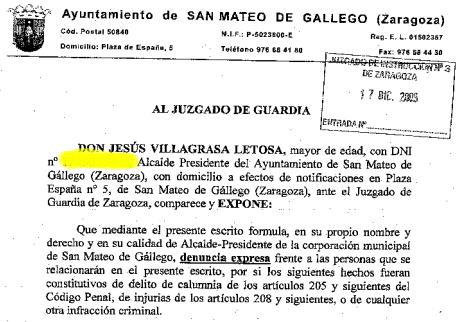 El blog de san mateo de g llego fragmento de la denuncia - El tiempo en san mateo de gallego ...