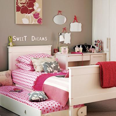 foto de dormitorio juvenil rosa