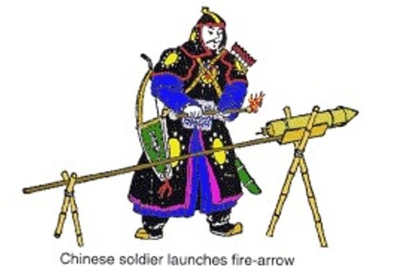 Roket Panah Api Prajurit Kerajaan Mongol