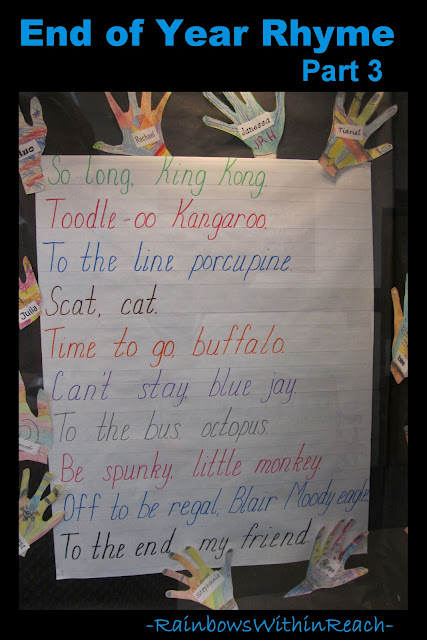 photo of: End of Year Rhyme Anchor Chart Part 3