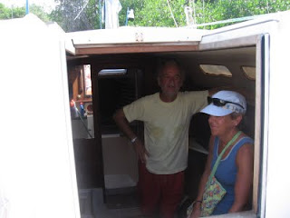 Louis and Nan in the cabin of Louis's 1979 CS 27