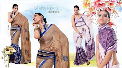 Designer Wear Sarees, Designer Wear Printed Sarees Online