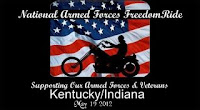 Kentucky/Indiana Armed forces Freedomride 2012