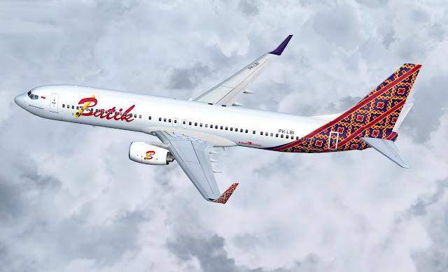 Foto Gambar Pesawat Terbang Batik Airlines 16