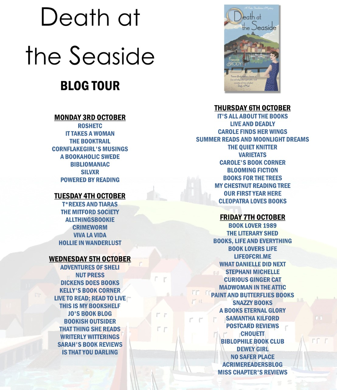 Death at the Seaside blog tour