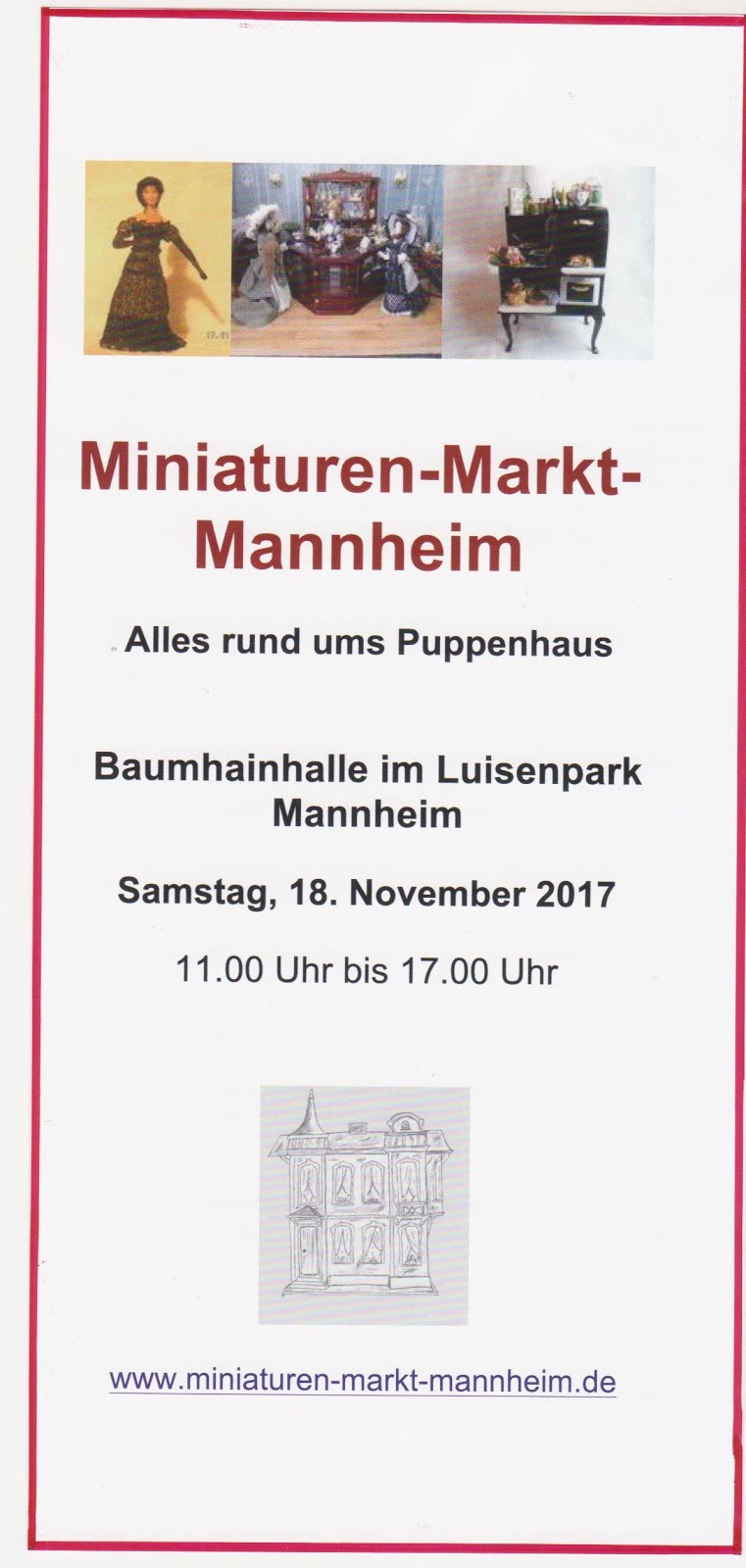 Miniaturen-Markt-Mannheim  18.11.2017 von 11 - 17 Uhr