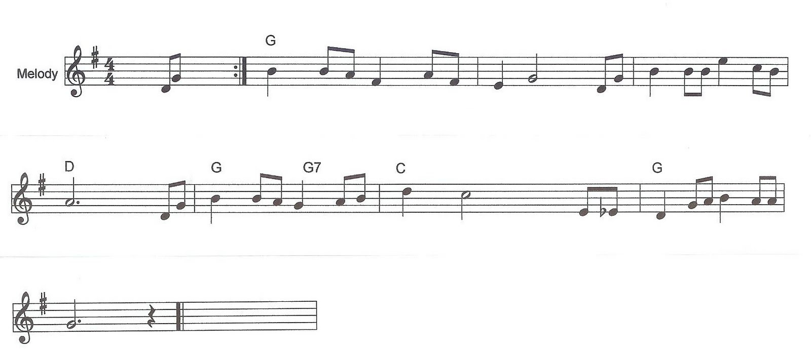 Playchordpiano123 note that it is in the key of g and has four quarter notes to the bar most songs have an introductory couple of notes in the first bar hexwebz Gallery