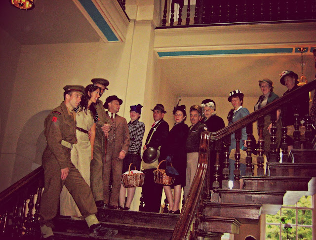 WWII re-enactors at the Pretty Nostalgic Gathering
