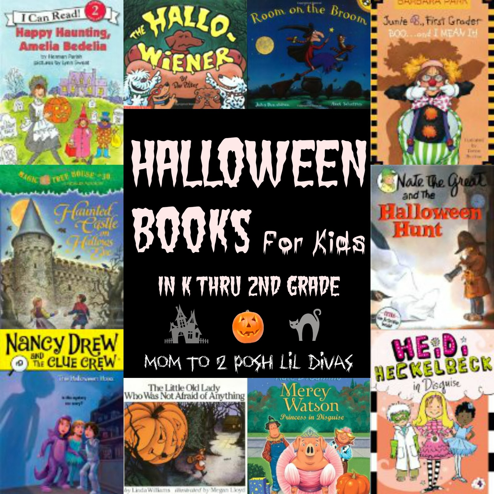Mom to 2 Posh Lil Divas: Halloween Books for K thru 2nd Graders