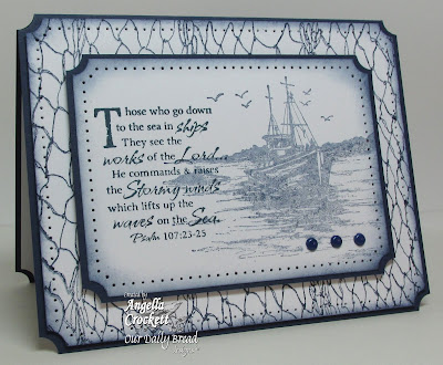 "ODBD ""The Waves on the Sea"" and ""Fishing Net Background"" Card Designer Angie Crockett"