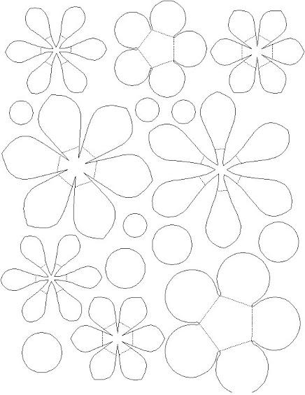 Moldes de flores blackhairstylecuts com