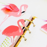 free flamingo printables: