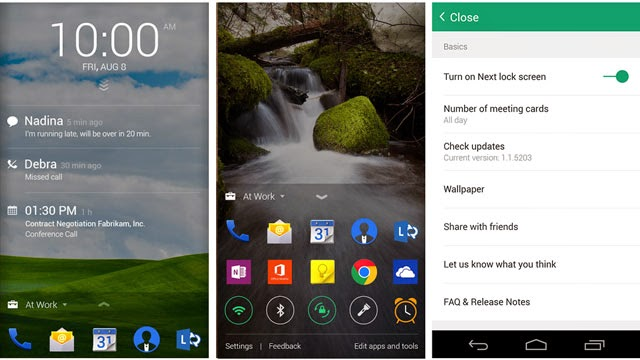 Next Lock Screen, Aplikasi Android Buatan Microsoft