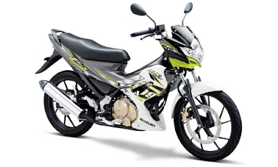 Warna Satria FU Brilliant White - Pearl Flash Green