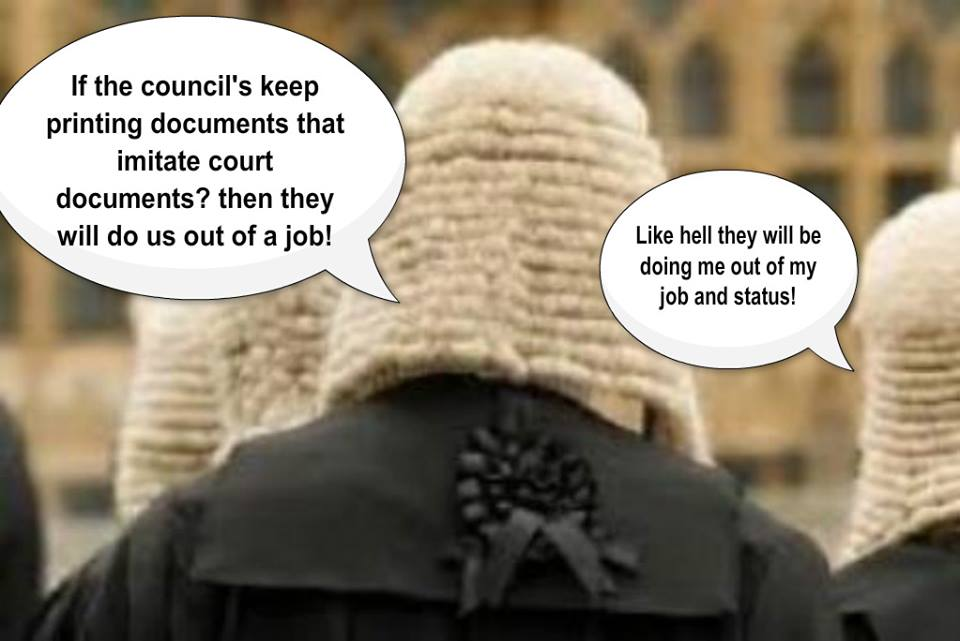 Corporate councils & courts colluding!