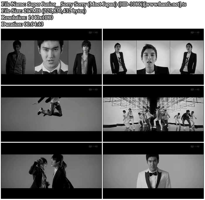 [MV] Super Junior   Sorry Sorry (Mnet Japan) [HD 1080i]