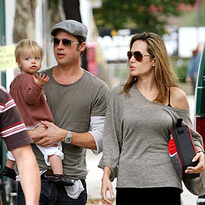 brad pitt and angelina jolie twins 2009. angelina jolie And Brad Pitt