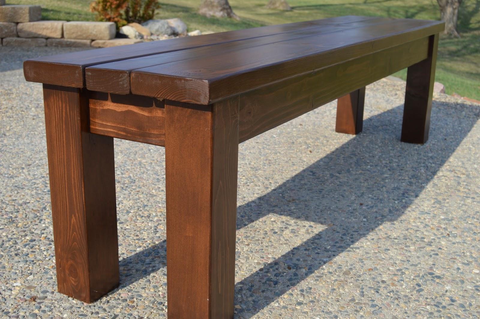 KRUSE\'S WORKSHOP: Simple Indoor/Outdoor Rustic Bench Plan