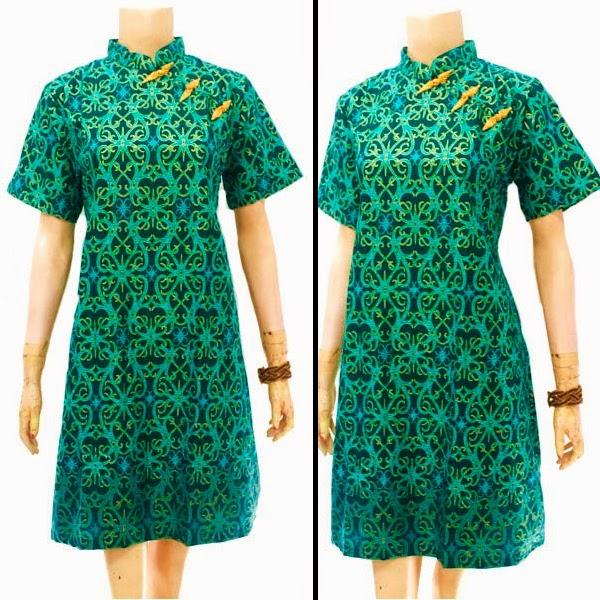 Baju Dress Batik Motif Cumi