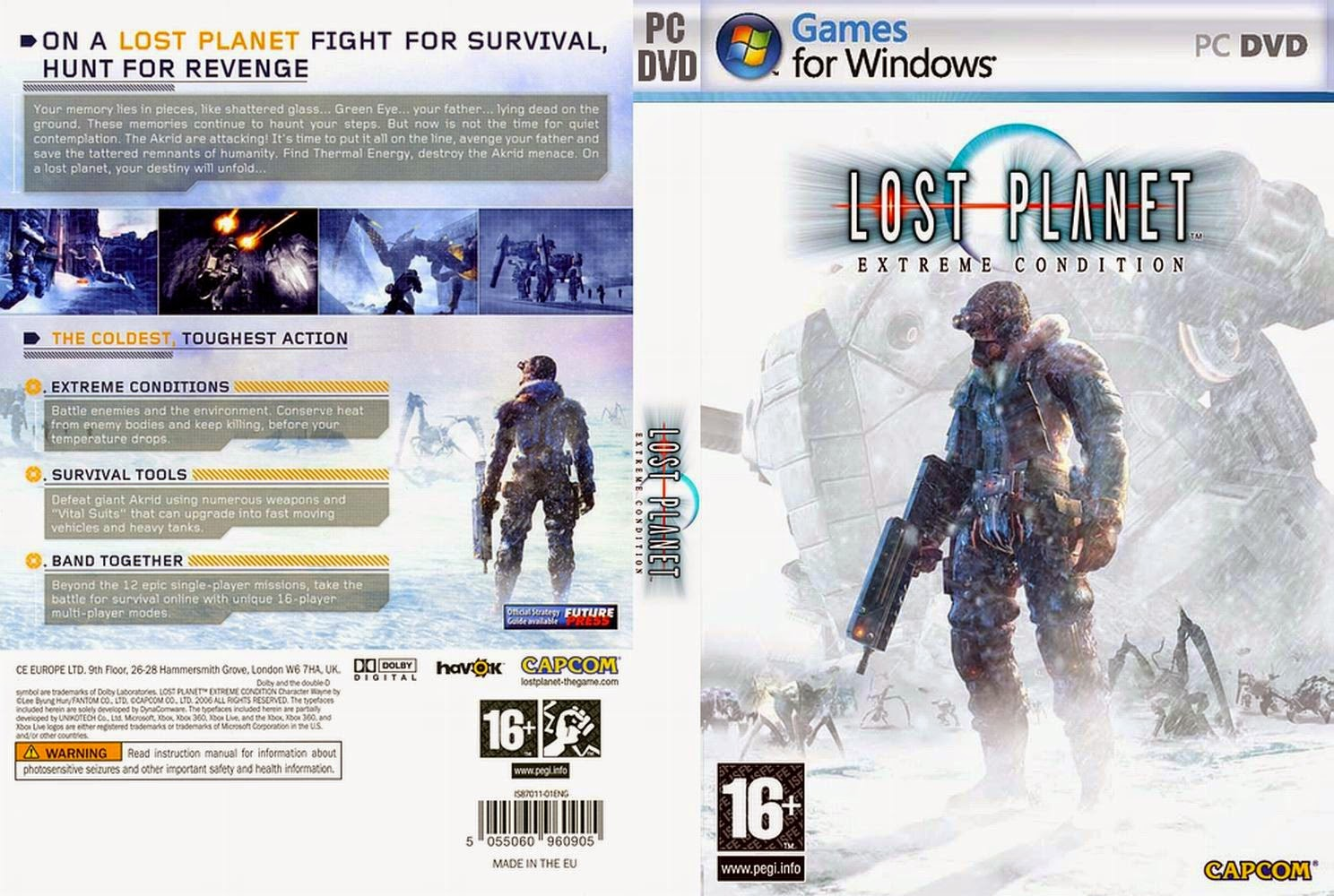 Lost Planet: Extreme Condition PC DVD Capa