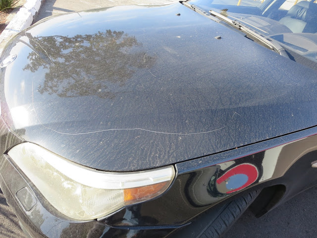 Keyed BMW 545i before painting at Almost Everything Auto Body