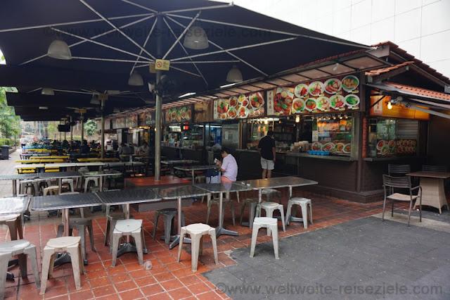Essensstände in der Orchard Road, Singapore