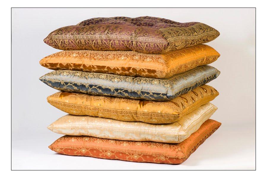 Monsoon Craft.com: Indian Sari Floor Pillows
