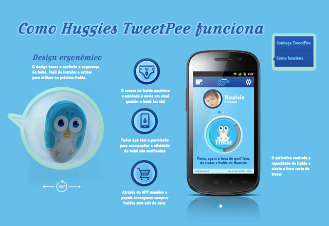 Huggies TweetPee Sends Tweet When Baby's Wet