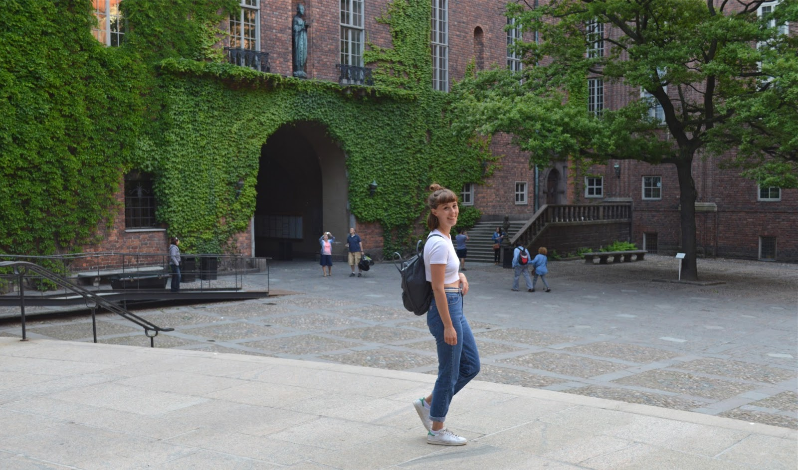 Me in the courtyard of Stadshuset city hall Stockholm