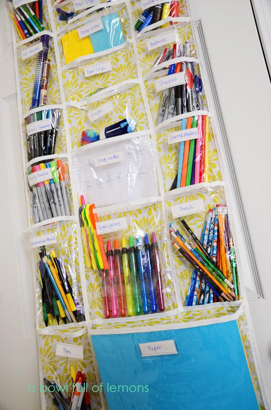Over the door homework organizer middle school