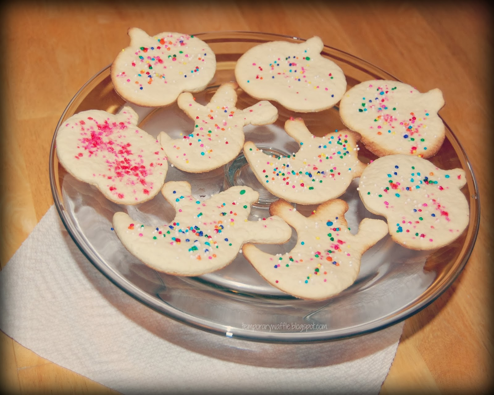 Temporary Waffle: Cream Cheese Halloween Sugar Cookies+Recipe