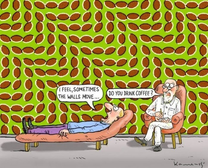 I Feel Sometimes The Wall Move - Do You Drink Coffee - Optical Illusion